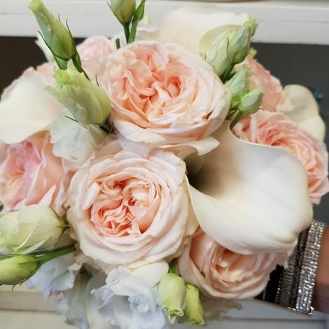Poročni šopek Vrtnica-Kala