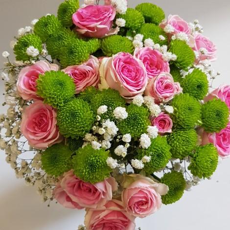 Šopek roza-zelen
