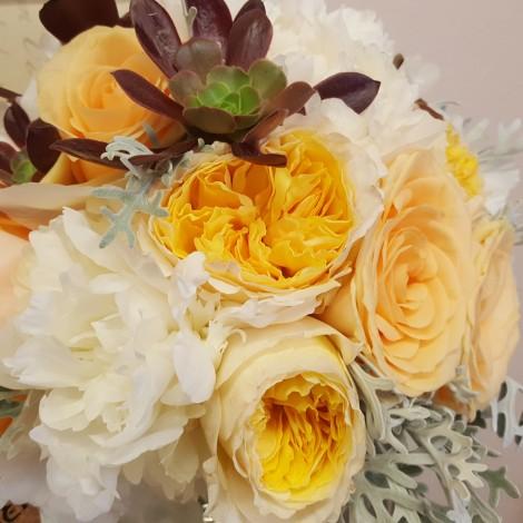 Poročni šopek oranž